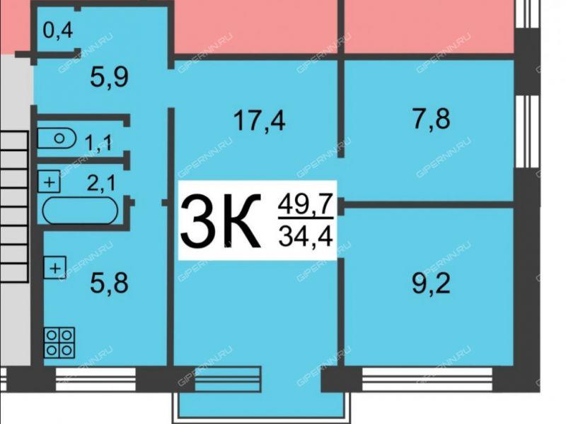 трёхкомнатная квартира в 6-м микрорайоне дом 7