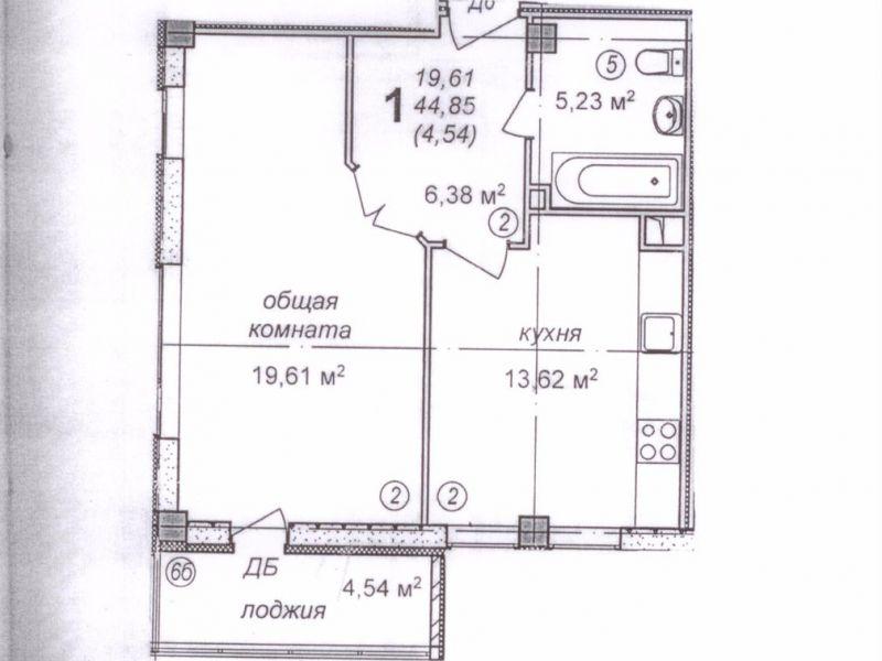 однокомнатная квартира на улица Мельникова, 26а